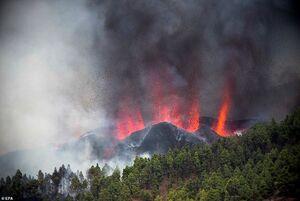 عکس/ فوران آتشفشان در جزایر قناری