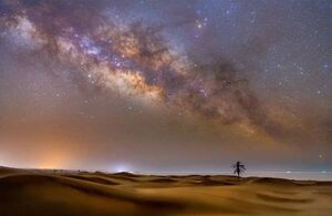 عکس/ کهکشان راه شیری برفراز آسمان دَرَک