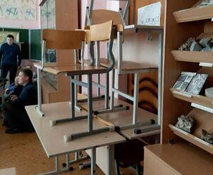 عکس/ نحوه مقابله دانشجویان با فرد مسلح در روسیه