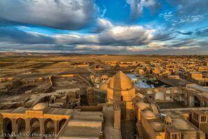 نمایی از شهر تاریخی نائین