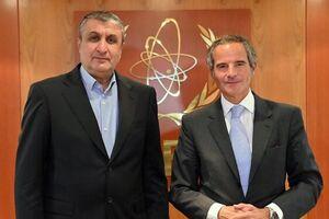 گروسی: در دیدار با اسلامی به تقویت بیانیه تهران پرداختیم