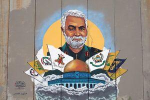 عکس/ شاهکار یک نقاش در مرز لبنان و فلسطین