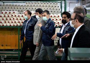 عکس/ افتتاح خط تولید ۱۰۰۰ تُنی نخ پنبه با حضور فتاح