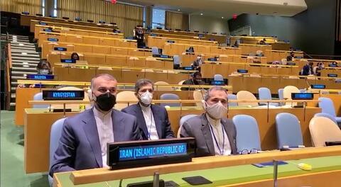 فیلم/ حضور هیات جمهوری اسلامی ایران در سالن سازمان ملل