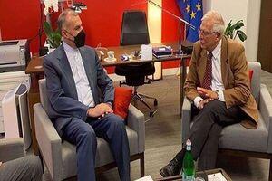 روایت اتحادیه اروپا از دیدار بورل با وزیر خارجه ایران