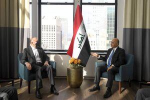 عکس/ دیدار امیرعبداللهیان با رئیس جمهور عراق