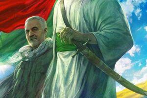 عکس/ پوستر سایت KHAMENEI.IR درباره شهید سپهبد حاج قاسم سلیمانی و هفته دفاع مقدس - معکوس - معکوس - کراپشده