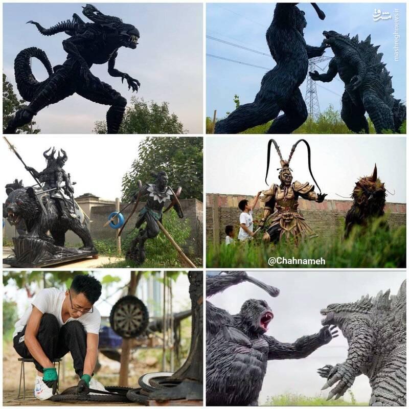 ایده جالب هنرمند چینی برای کسب درآمد از ضایعات +عکس