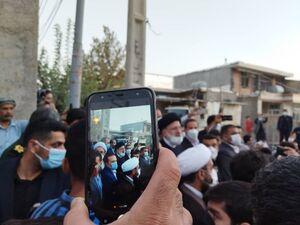 """عکس/ حضور سرزده رئیس جمهور در """"محله هانی وان"""" ایلام"""