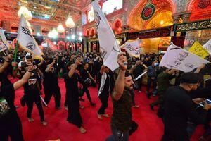 عشق و ارادت هیئت بزرگ یاران حشد الشعبی به سالار شهیدان +عکس