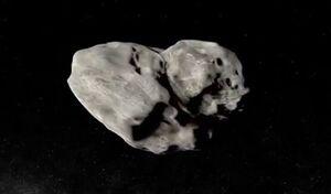 عبور سیارکی از کنار کره زمین