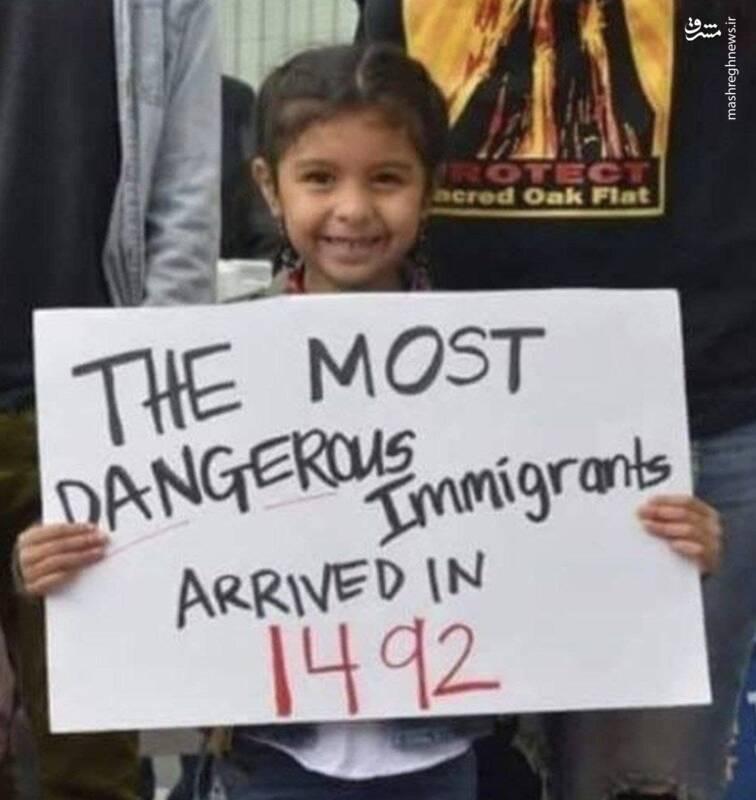 خطرناکترین مهاجرین از نگاه دخترک آمریکایی
