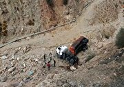 سقوط مرگبار کامیون به دره