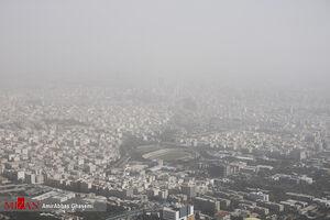 عکس/ تهران غرق در گرد و غبار شدید