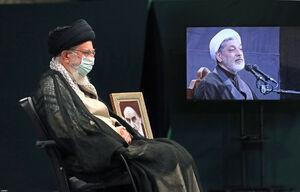 عکس/ رهبر انقلاب در مراسم عزاداری اربعین ۱۴۰۰