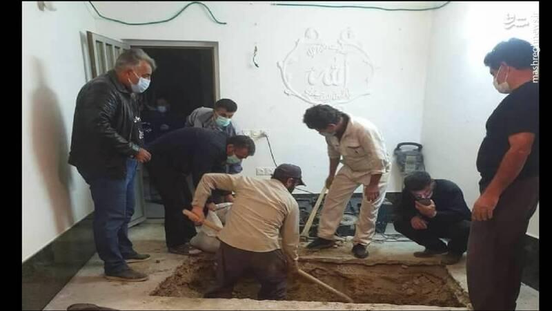 عکس/ محل دفن علامه حسن زاده آملی در منزلش