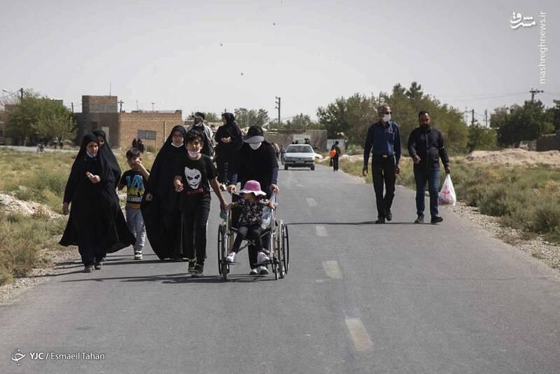 آیین پیادهروی جاماندگان اربعین - سمنان