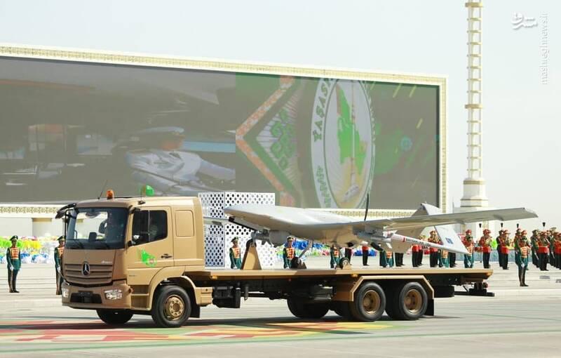 عکس/ رونمایی از پهپاد بیرقدار در ترکمنستان
