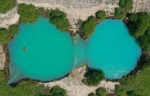 عکس/ چشمه آب گرم میراحمد را از بالا ببینید