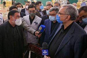 عکس/ بازدید وزیر بهداشت از مرکز واکسیناسیون حرم رضوی