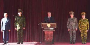 رژه نظامی تاجیکستان در مناطق هممرز با افغانستان