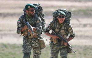 نماهنگی از رزمایش ارتش در مرز آذربایجان