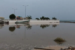 عکس/ طوفان «شاهین» در نزدیکی دریای عمان