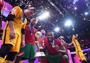 قهرمانی تیم فوتسال پرتغال به روایت تصویر