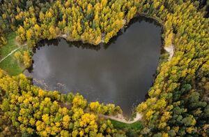 عکس/ دریاچهای به شکل قلب