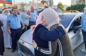 فیلم/ آزادی بانوی فلسطینی از زندان رژیم صهیونیستی