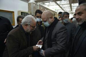 عکس/ روز دوم عزاداری ایام ماه صفر با حضور قالیباف