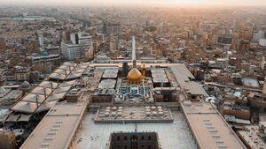 عکس/ نمای هوایی از حرم حضرت علی(ع)