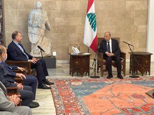 عکس/ ملاقات امیرعبداللهیان با رئیس جمهور لبنان