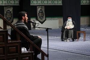 فیلم/ نوحه خوانی مهدی رسولی در حضور رهبر انقلاب