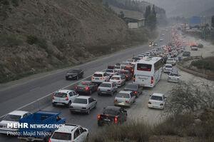 ترافیک محورهای خروجی مازندران سنگین است