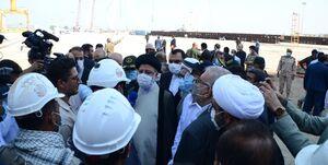 بازدید رئیس جمهور از شرکت صدرا در بوشهر