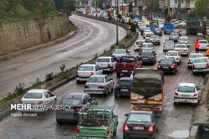عکس/ ترافیک بازگشت مسافران از شمال کشور