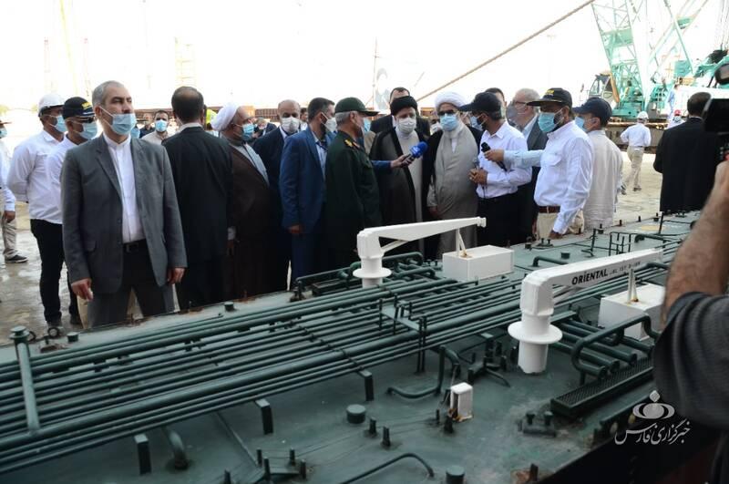 بازدید رئیس جمهور از شرکت صدرا در بوشهر +عکس