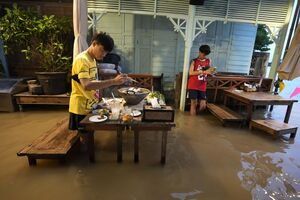 عکس/ زندگی در سیلاب