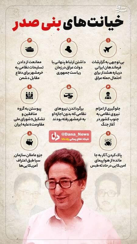 گوشهای از خیانتهای بنیصدر علیه ایران