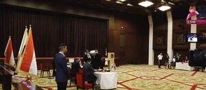 عکس/ شیخ قیس الخزعلی پای صندوق رای