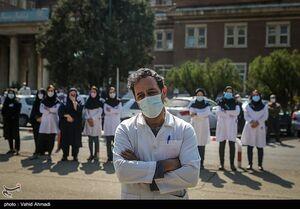 عکس/ تشییع شهیدمدافع سلامت دکتر زهرا خدابنده لو