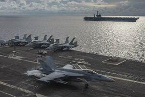 ناو هواپیمابر اتمی آمریکا به اقیانوس هند اعزام شد