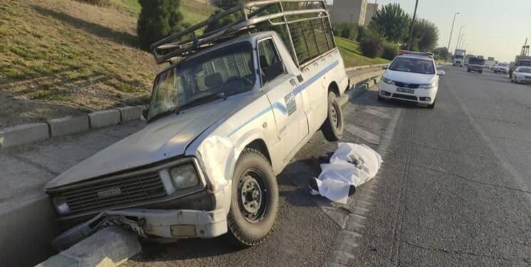 تصادف فوتی در بزرگراه آزادگان +عکس