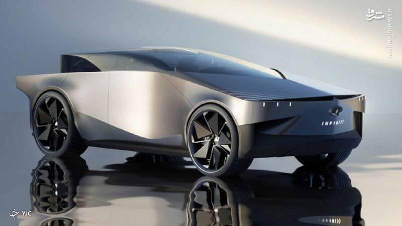 اینفینیتی QX۹۰؛ خودرویی عجیب بر اساس طراحی تسلا سایبرتراک +عکس