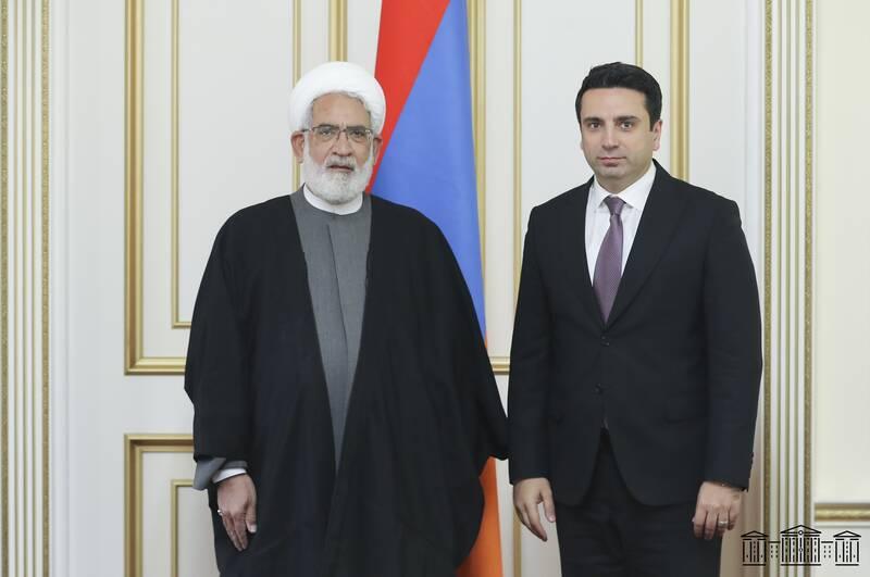رئیس مجلس ملی ارمنستان: گفتوگوی مهمی با دادستان کل جمهوری اسلامی ایران داشتم +عکس