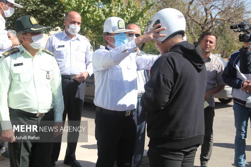 رزمایش موتورسواران قانونمند در زنجان