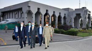 هیات بلندپایه نظامی ایران وارد کراچی شد