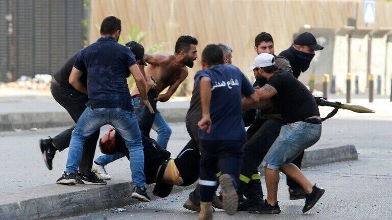 لبنان،بيروت،تجمع،زخمي