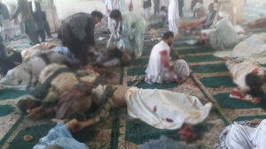 تصاویر تکان دهنده از انفجار در مسجد قندهار